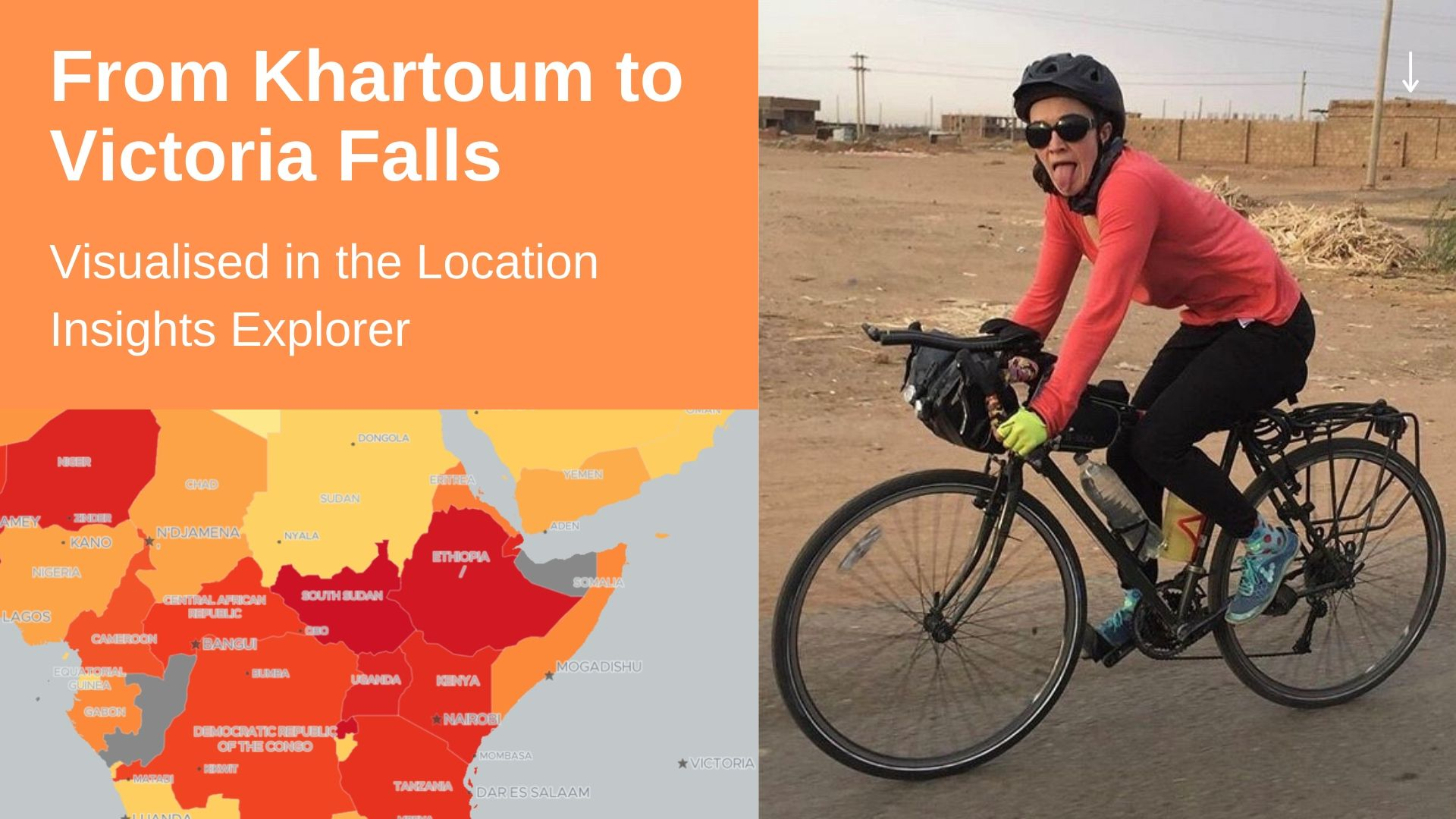 Alice cycles from Khartoum to Victoria Falls - a journey through LINE