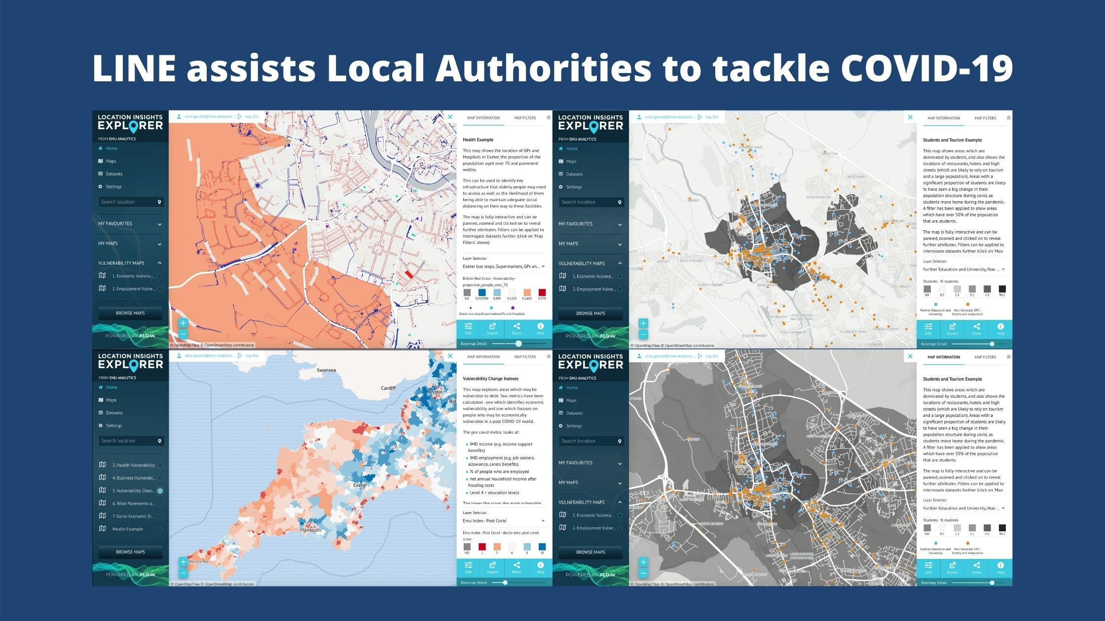 Location Insights Explorer For Local Authorities to Respond to COVID-19 Challenges