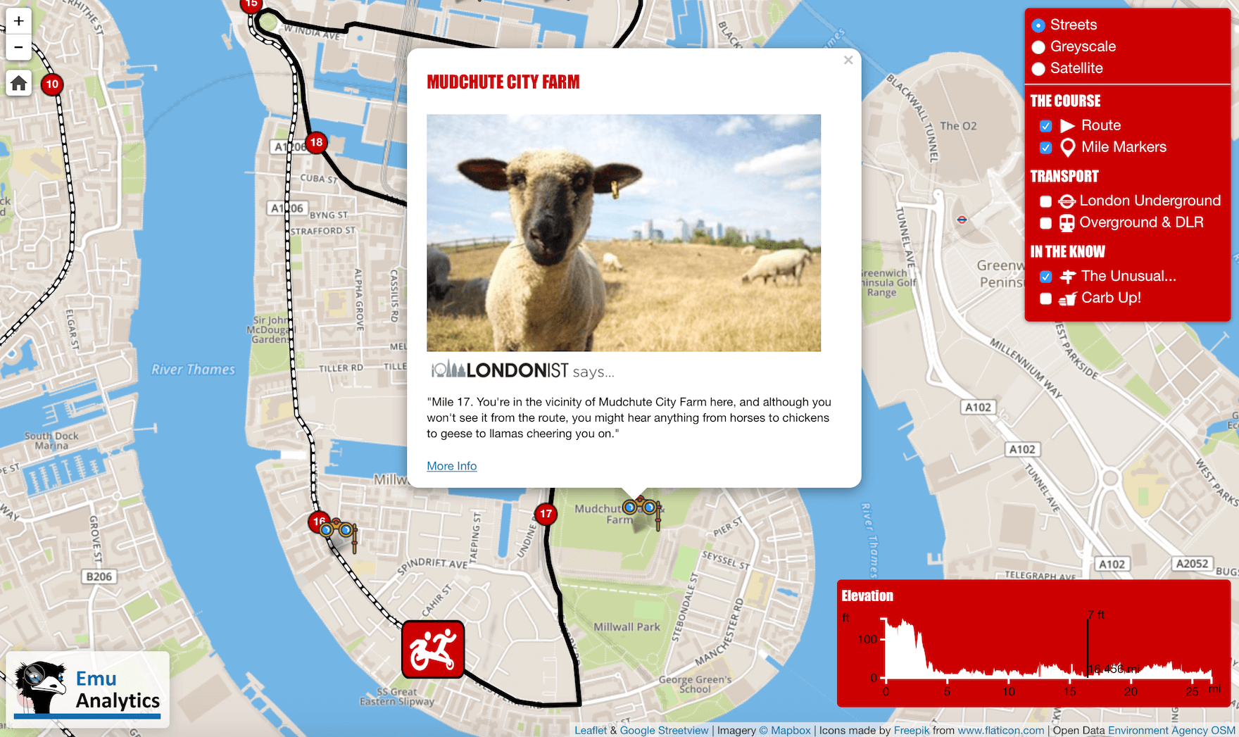 London Marathon Mapped