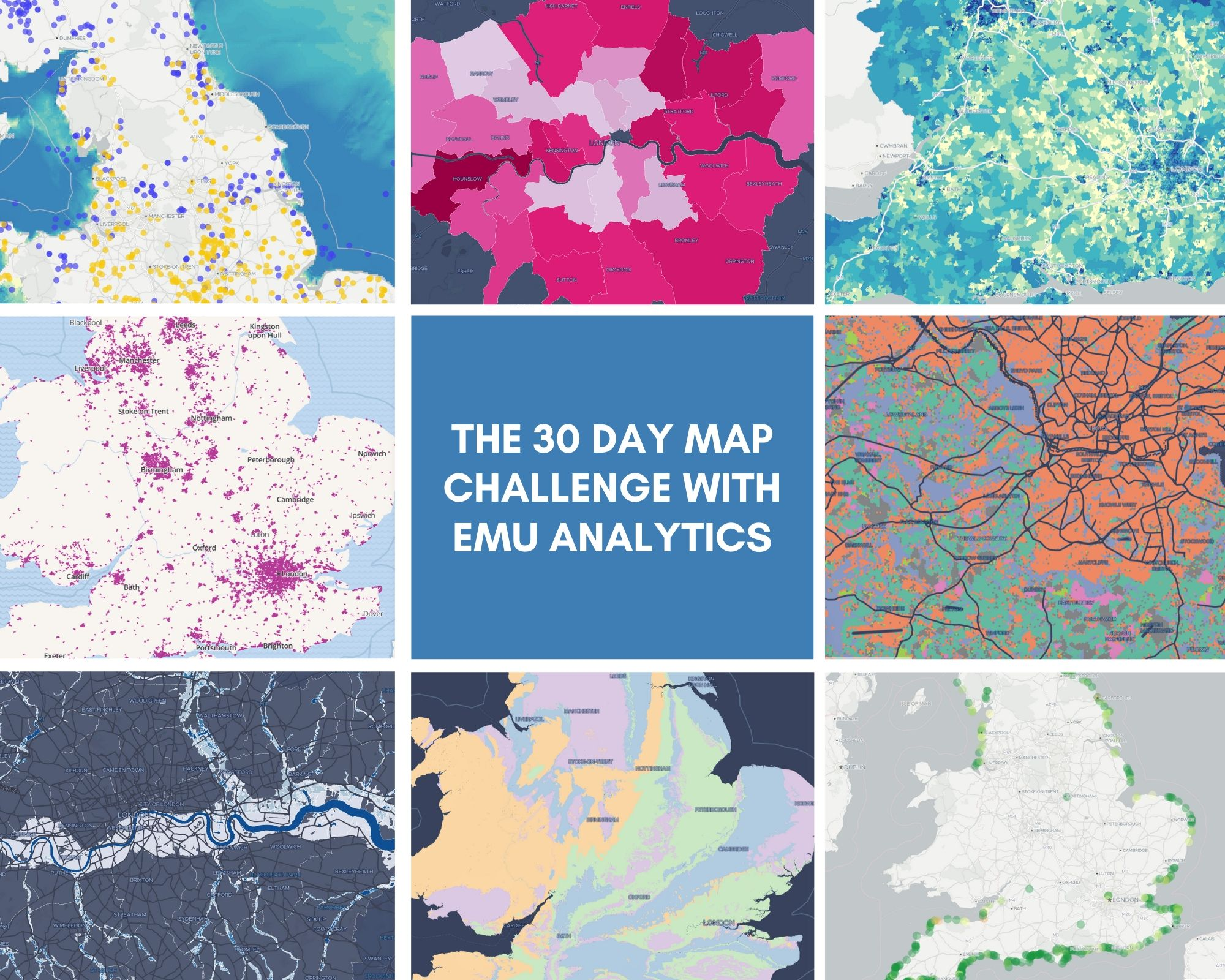 Wrap up on the 30-day map challenge