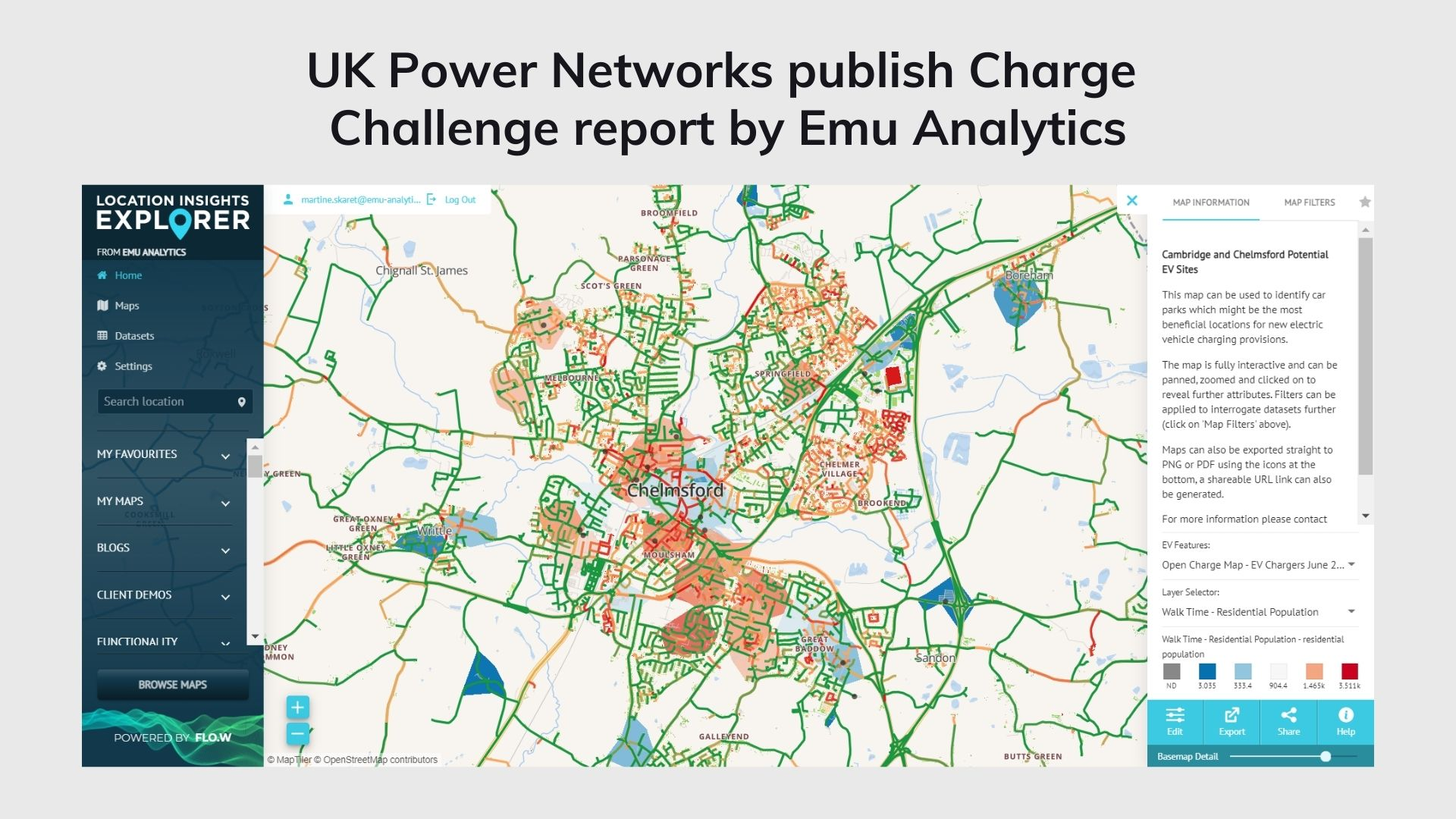 UK Power Networks publish Charge  Challenge report by Emu Analytics